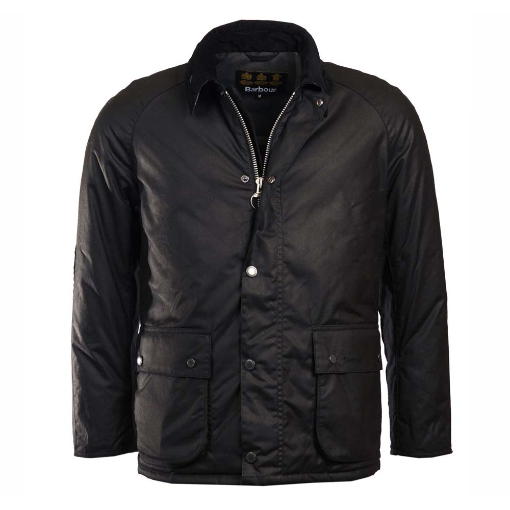 Barbour Strathyre Black Waxed Cotton Jacket