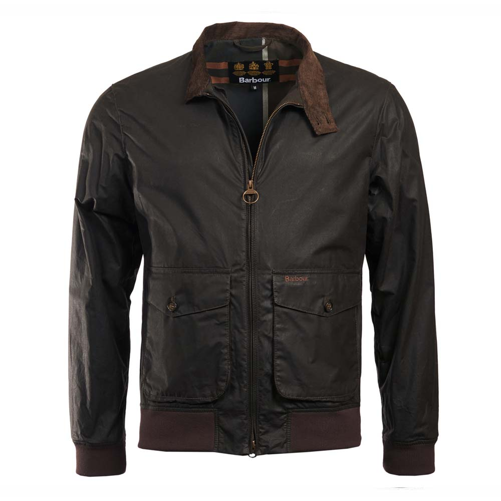 Barbour Hagart Dark Olive Waxed Cotton Jacket