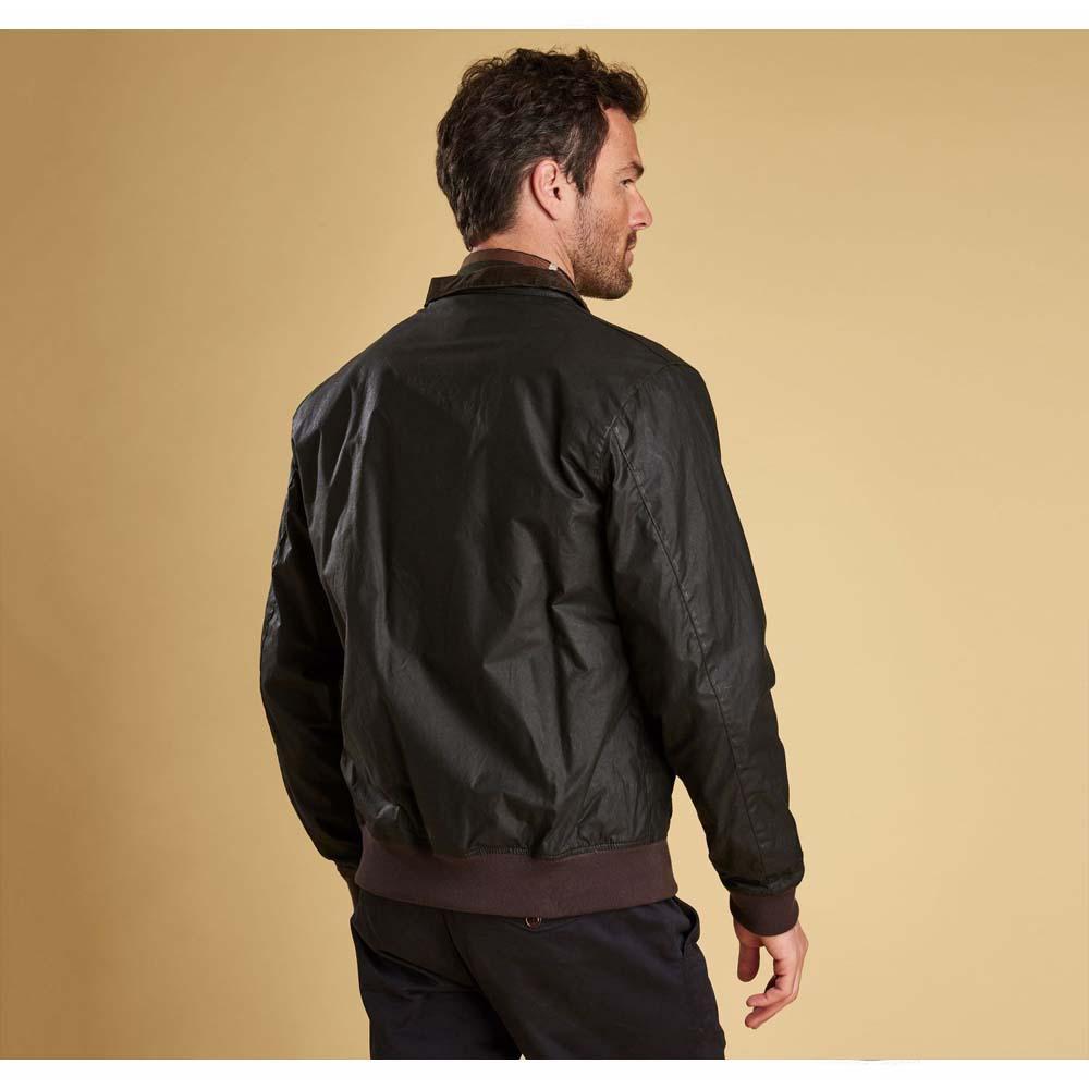 Barbour Hagart Dark Olive Waxed Cotton Jacket