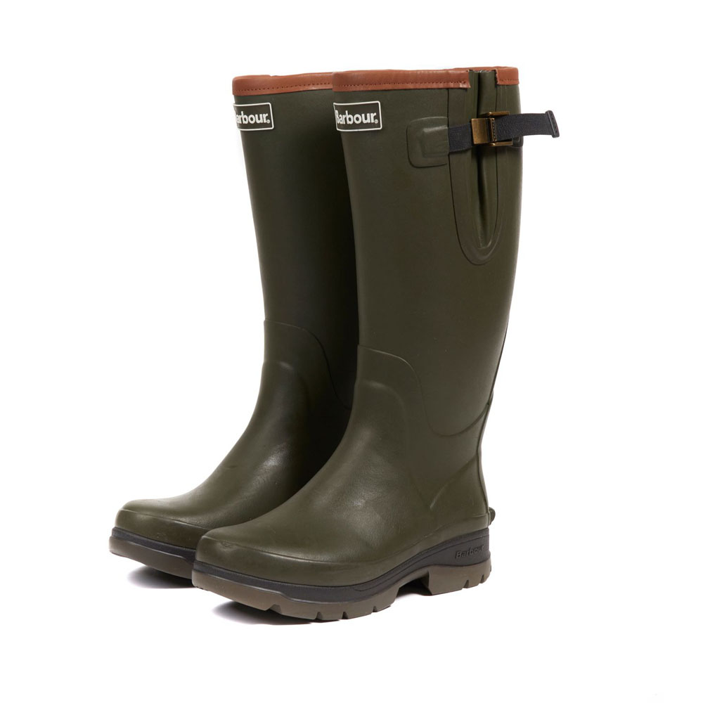 Men's Barbour Tempest Olive Wellington Boots
