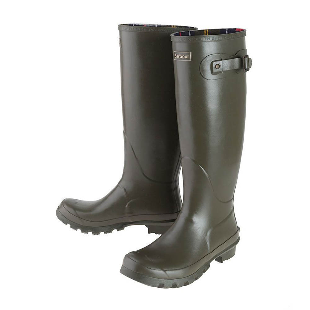 Men's Barbour Bede Olive Wellington Boots