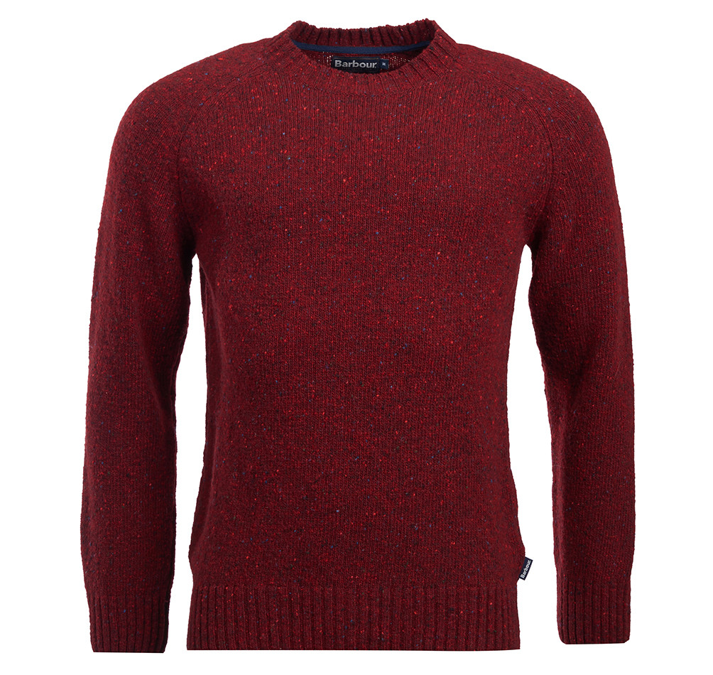 Barbour Netherton Merlot Crew Neck Sweater