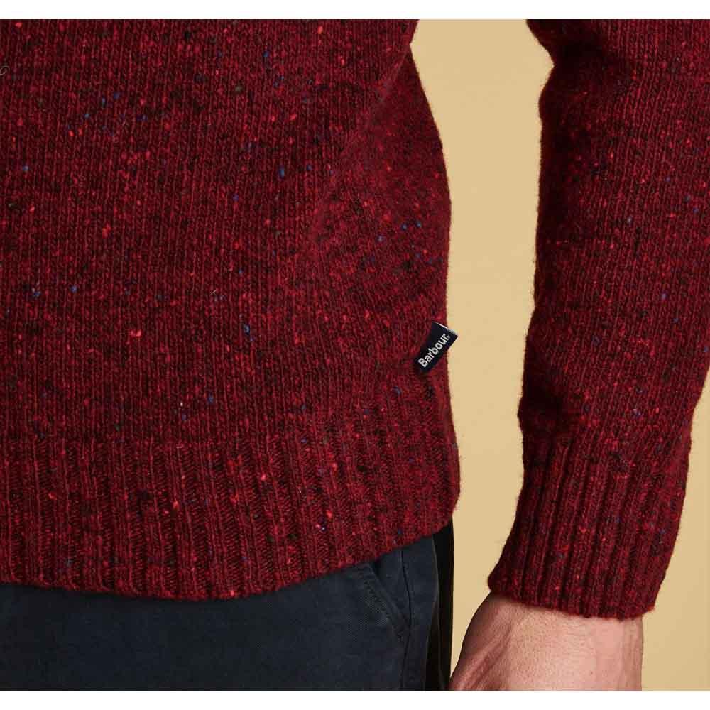 Barbour Netherton Merlot Crew Neck Sweater