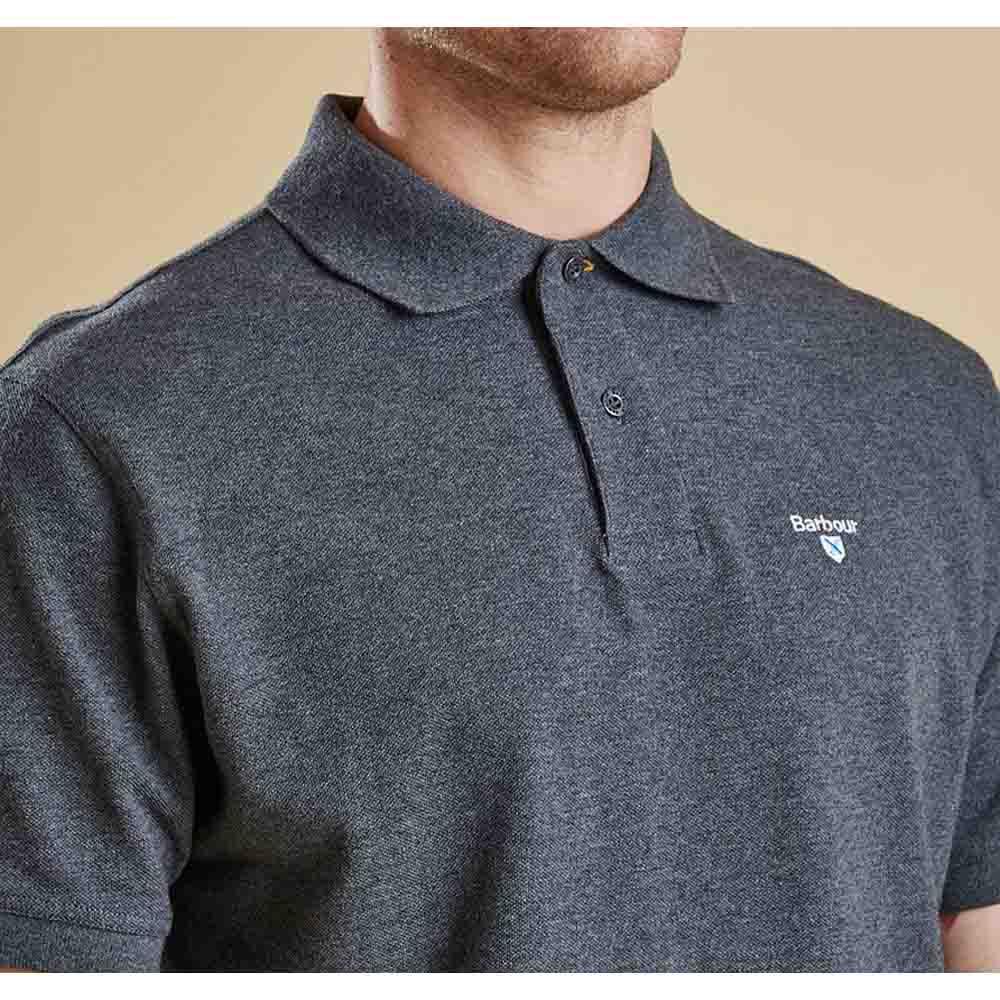 Barbour Tartan Pique Slate Polo Shirt