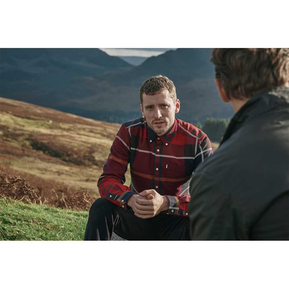 Barbour Dunoon Red Tailored Shirt