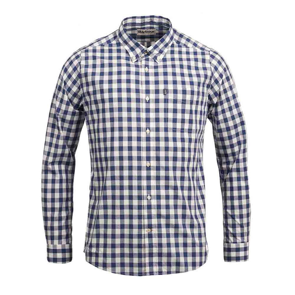 Barbour Endsleigh Deep Blue Tailored Shirt