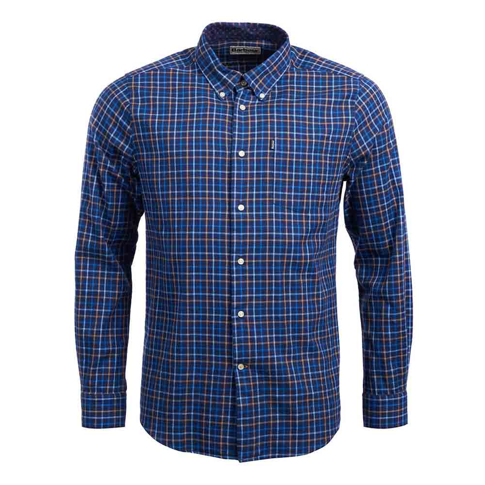 Barbour Stapleton Ethan Dark Navy Tailored Shirt