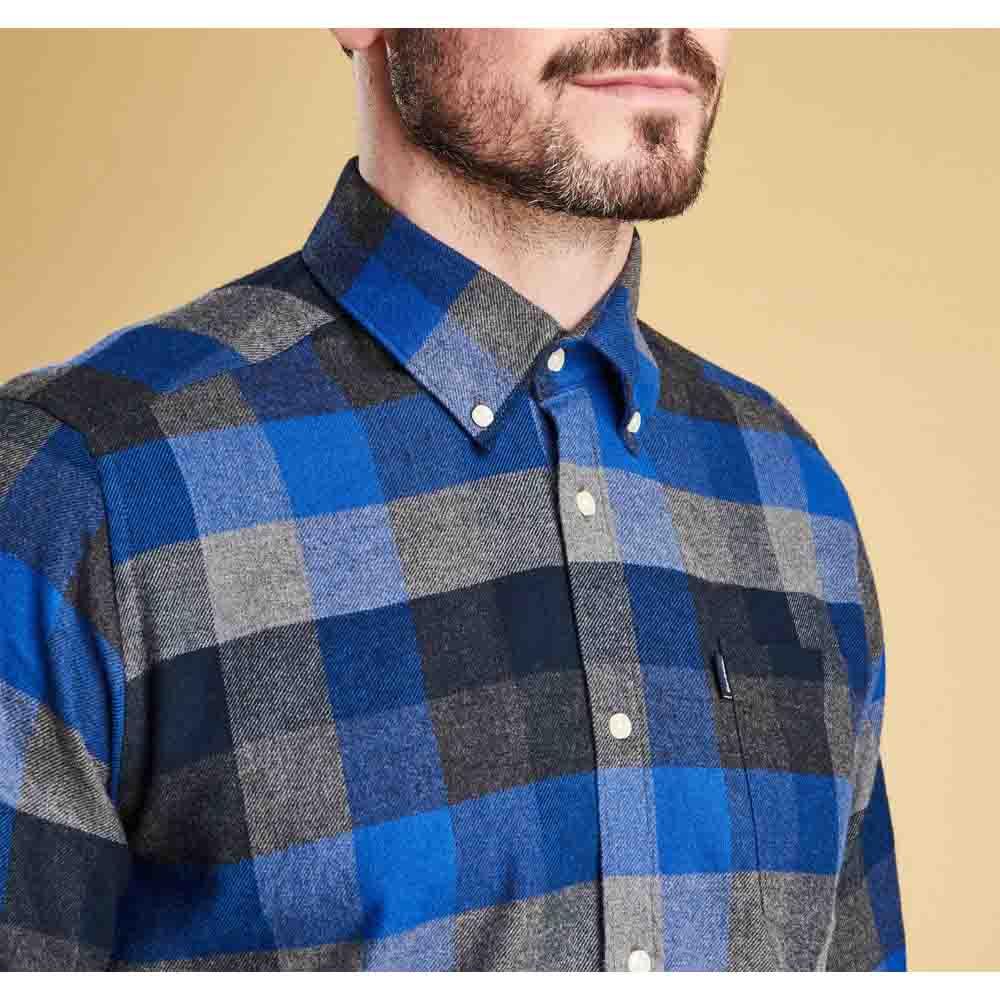Barbour Stapleton Angus Atlantic Blue Tailored Shirt