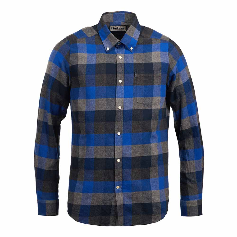 Barbour Stapleton Angus Atlantic Blue Tailored Shirt