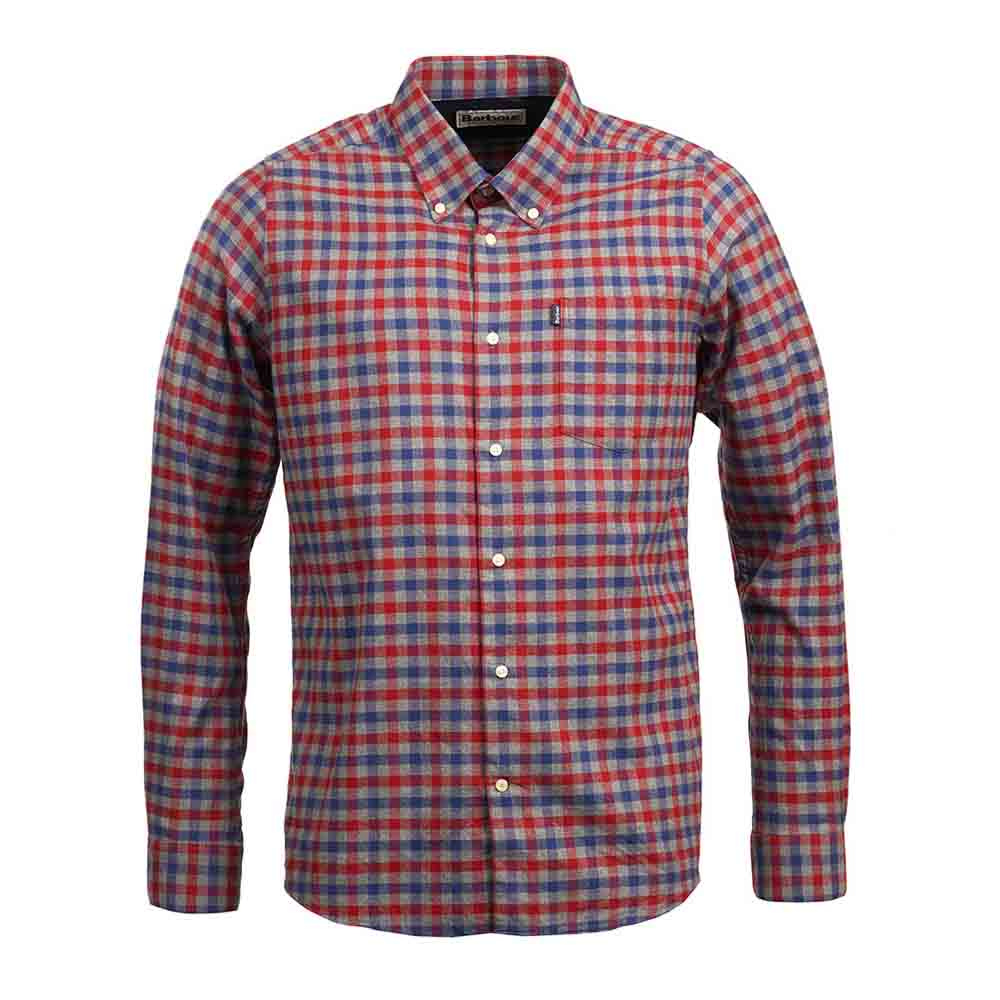 Barbour Stapleton Moss Rich Red Tailored Shirt