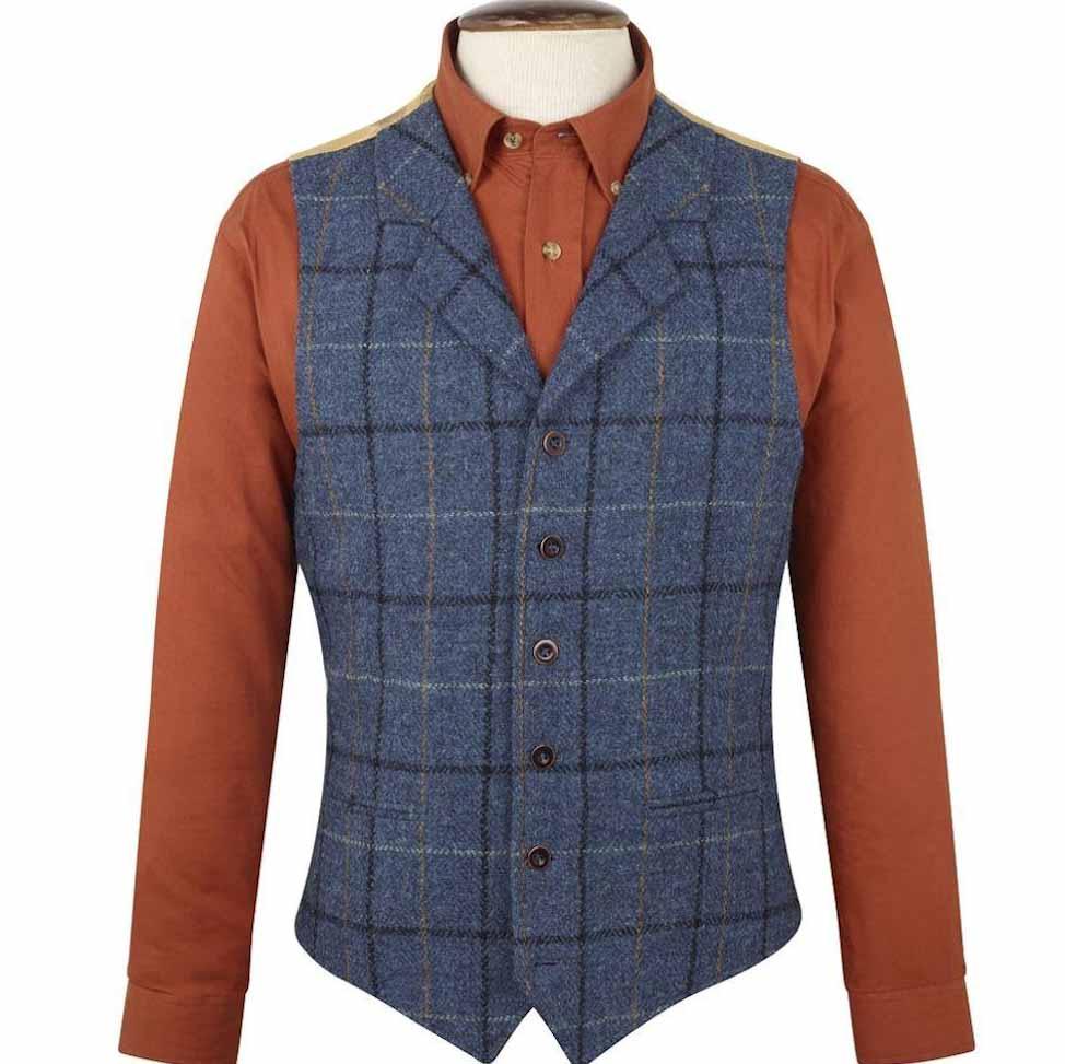Brook Taverner Ensay Harris Tweed Waistcoat