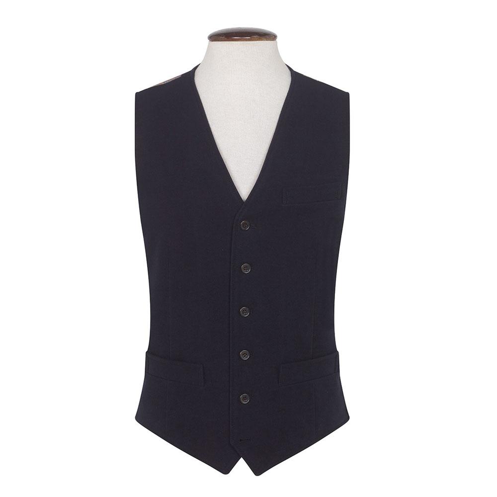 Brook Taverner Nicholls Moleskin Navy Waistcoat