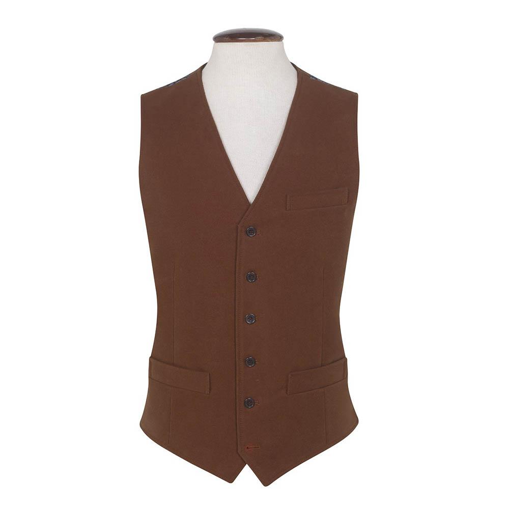 Brook Taverner Nicholls Moleskin Ginger Waistcoat