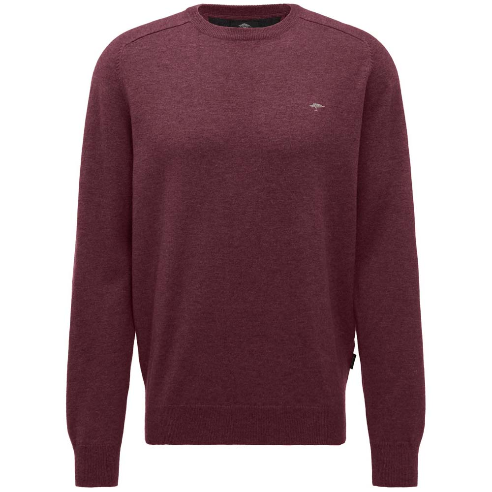 Fynch Hatton Oxblood Crew Neck Knit