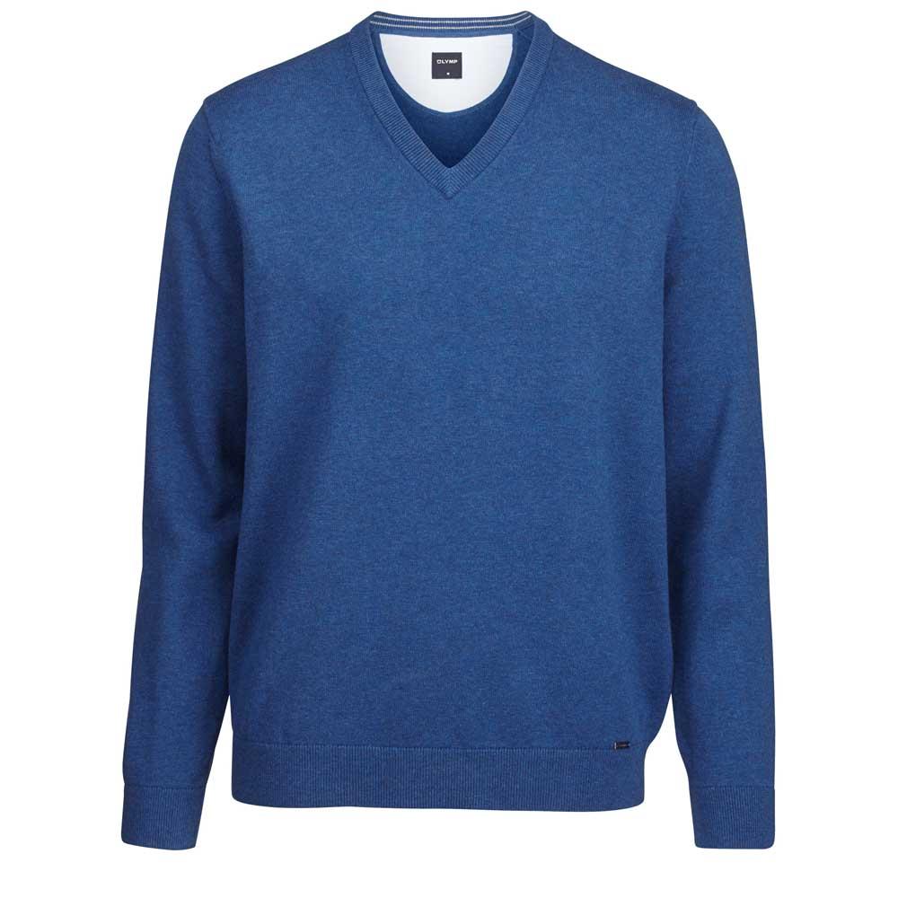 Olymp Smoke Blue V-Neck Knit