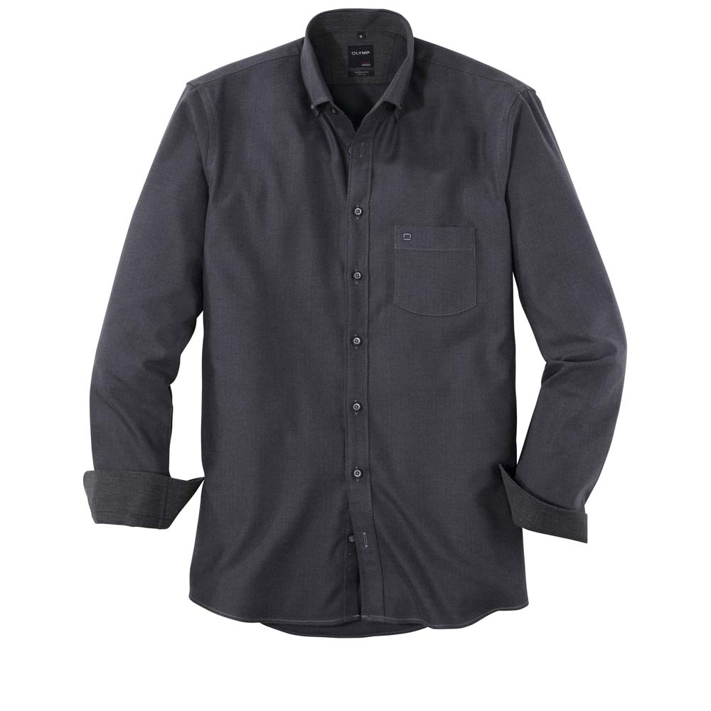 Olymp Graphite Herringbone Shirt