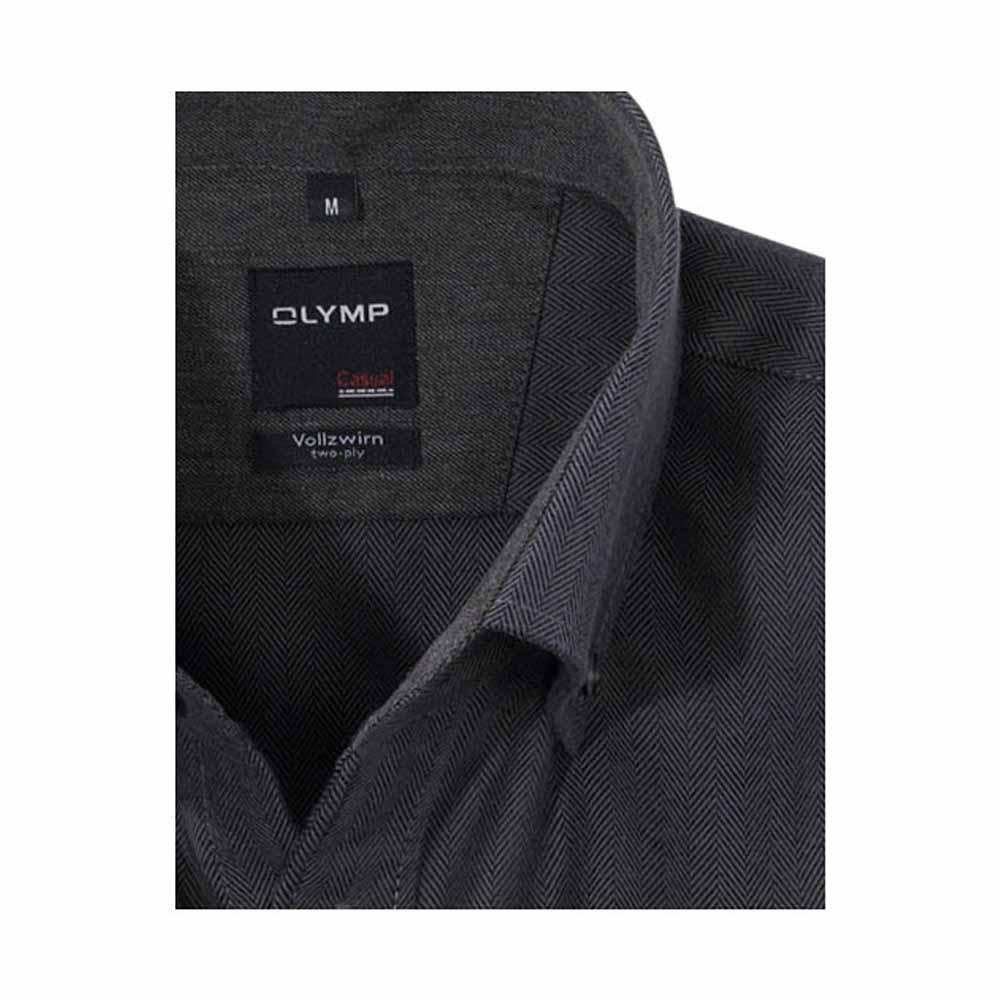 Olymp Graphite Herringbone Shirt