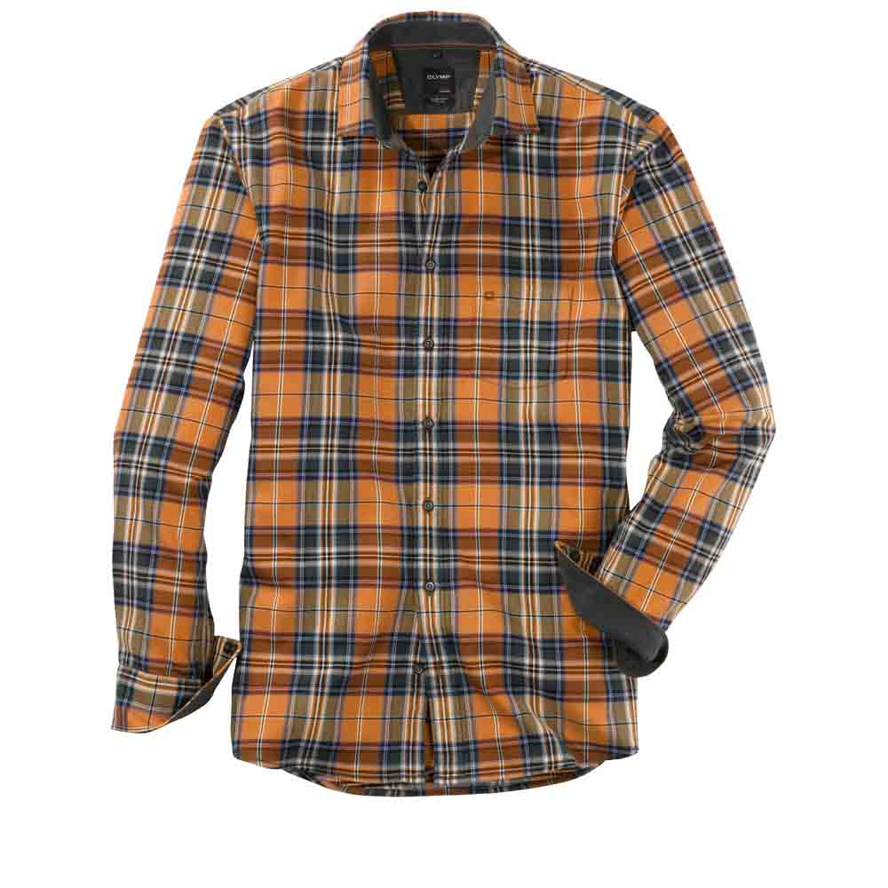 Olymp Brass Check Shirt