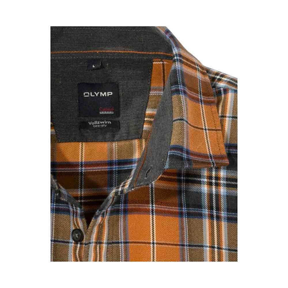 Olymp Brass Check Shirt