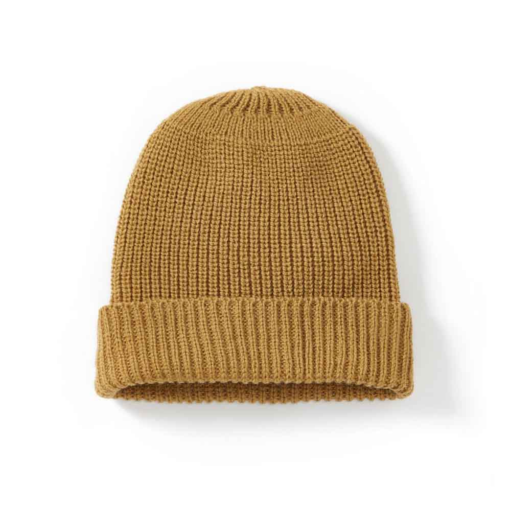 Peregrine Porter Ribbed Mustard Beanie