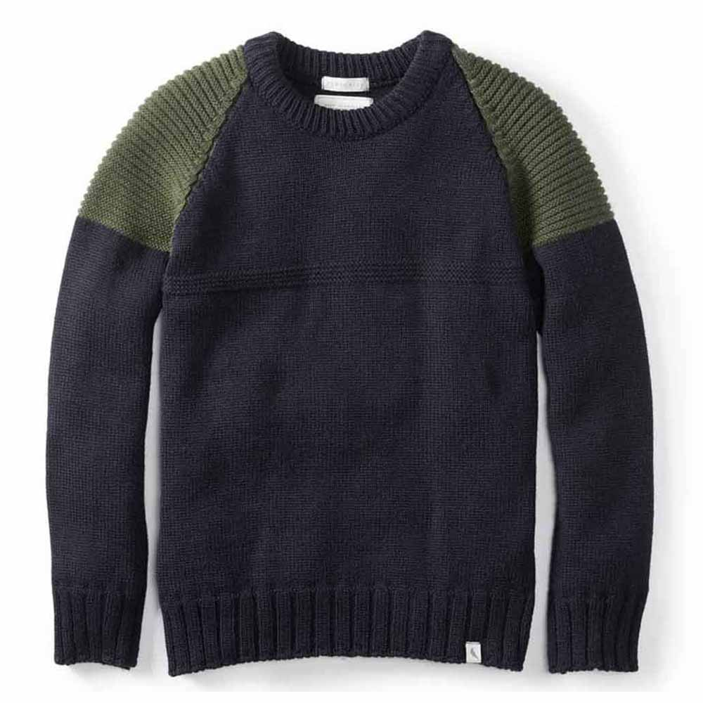 Peregrine Peak Navy and Olive Jumper