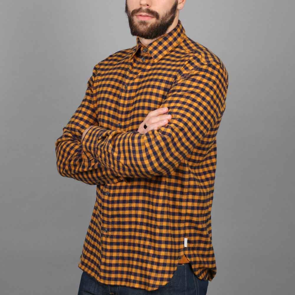 Peregrine Preston Mustard Check Shirt