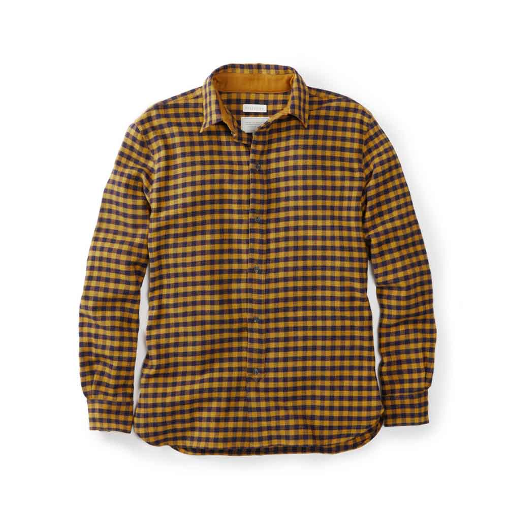 Peregrine Preston Mustard Check Shirt