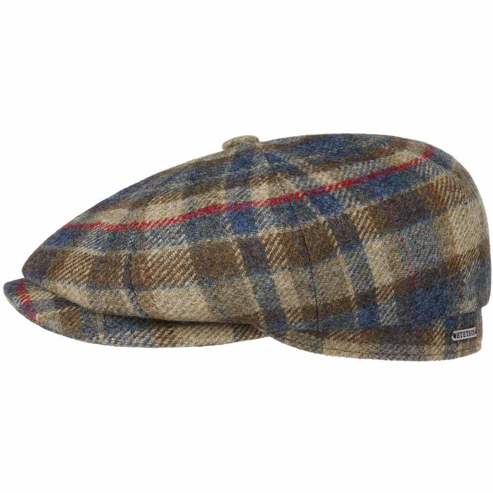 Stetson Hatteras Virgin Wool Check Cap