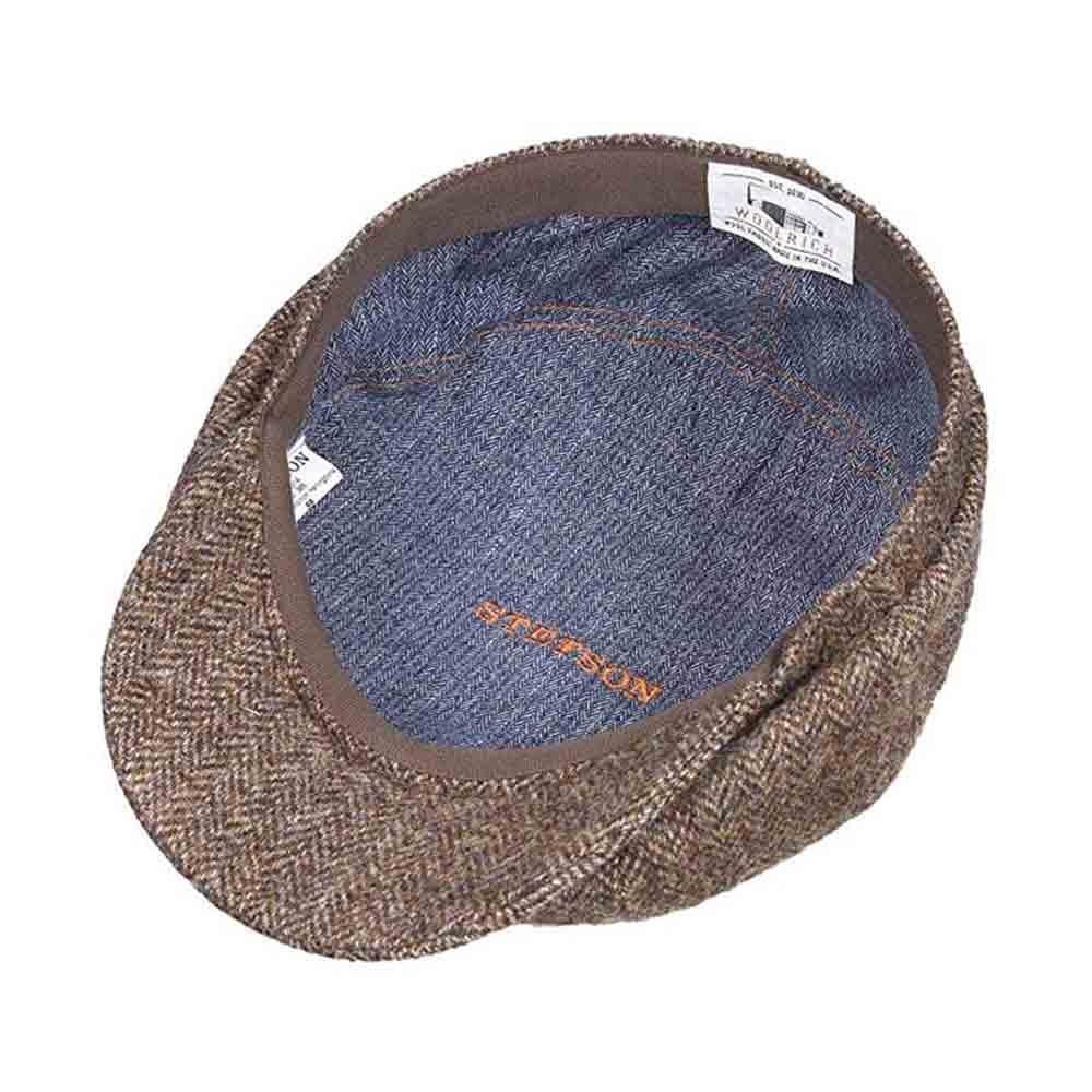 Stetson Hatteras Brown Woolrich® Flat Cap