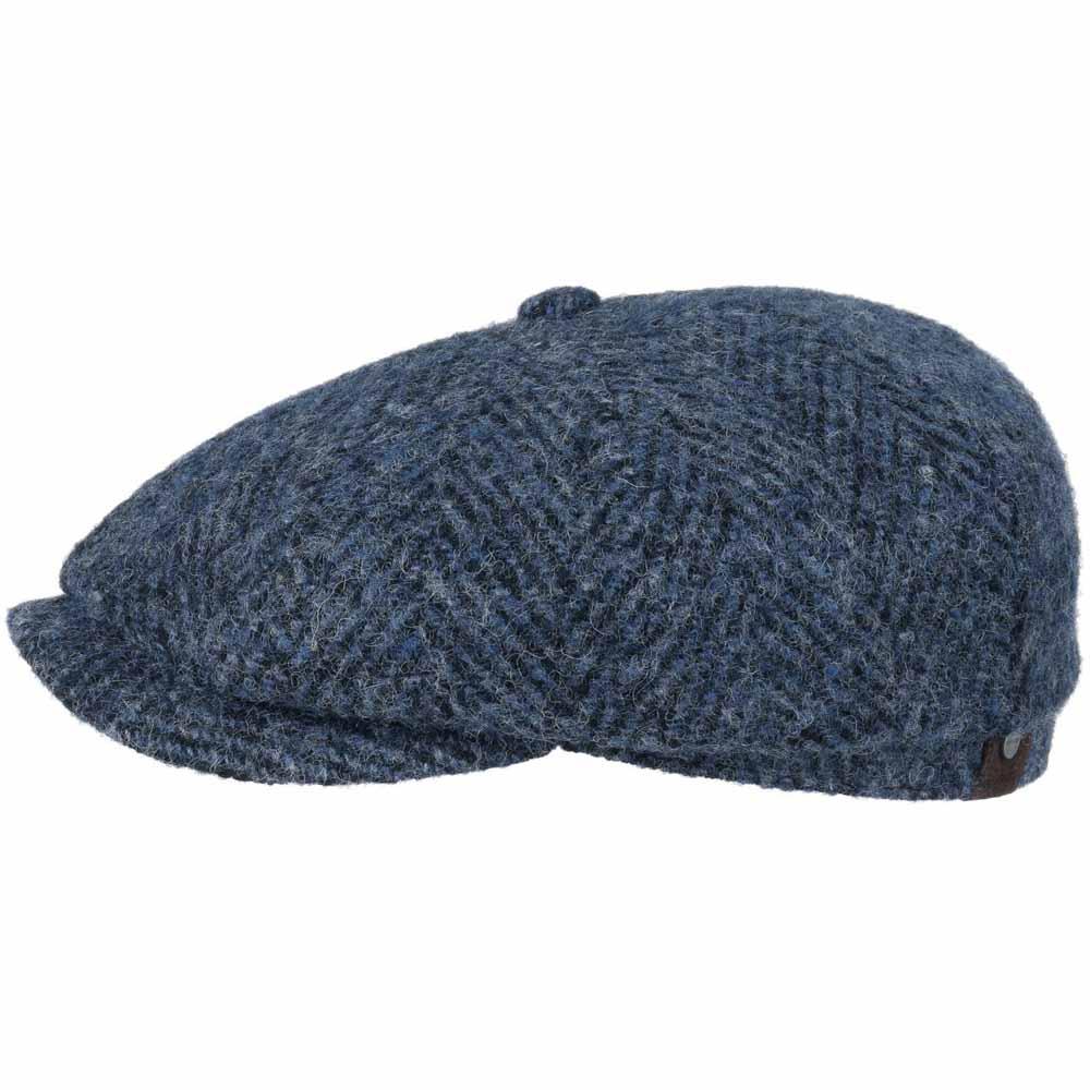 Stetson Hatteras Blue Herringbone Cap