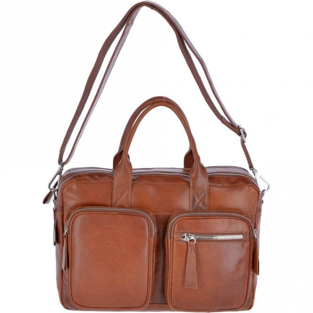Ashwood 1662 Tan Leather Messenger Bag