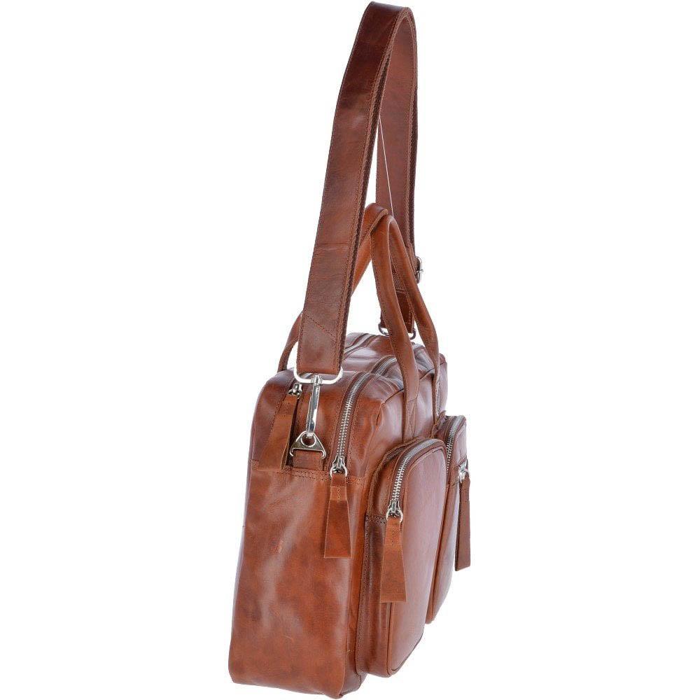 Ashwood 1662 Tan Leather Messenger Bag