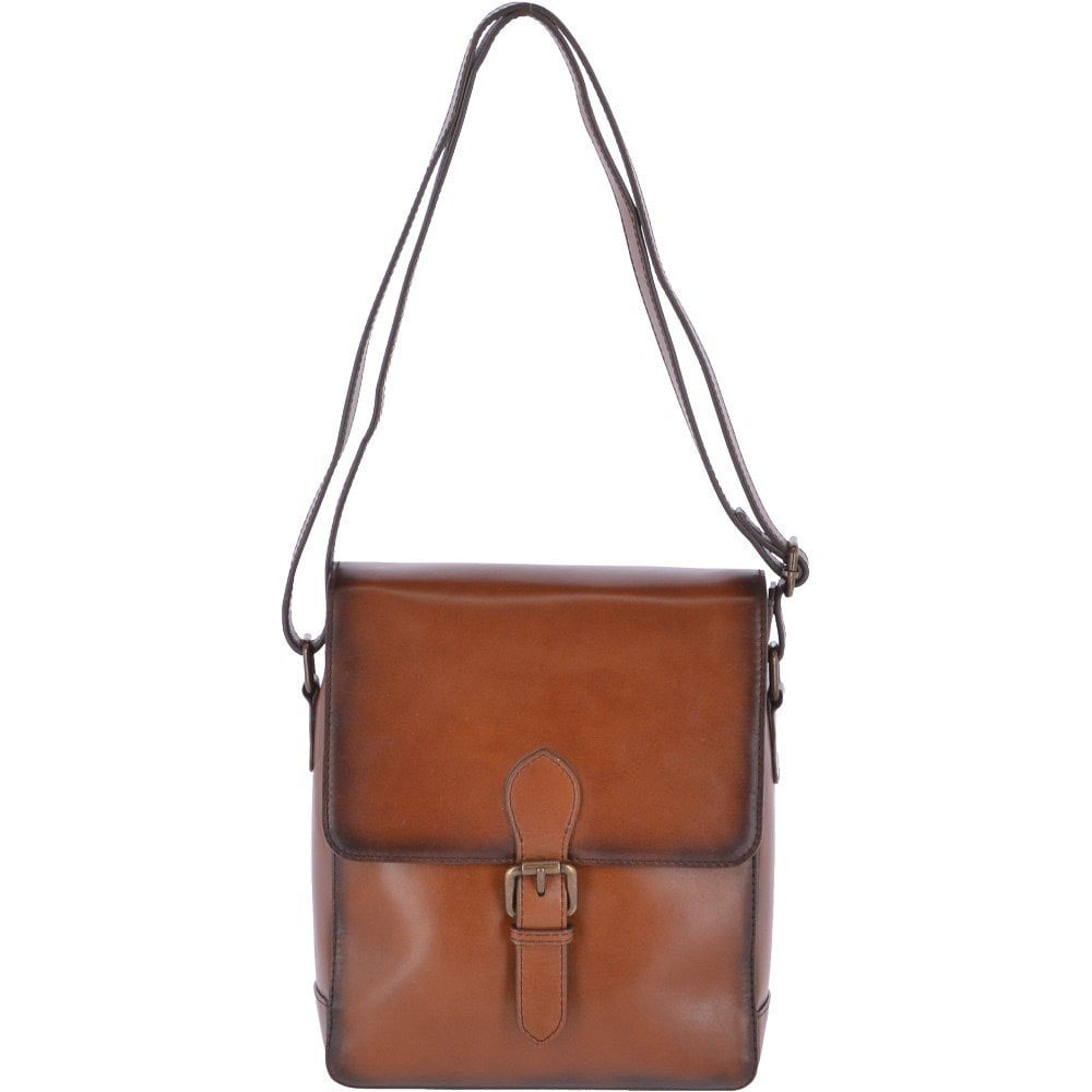 ASHWOOOD JONES TAN LEATHER BAG