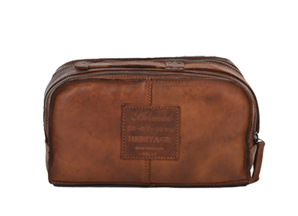 Ashwood 7998 Washbag in Rust
