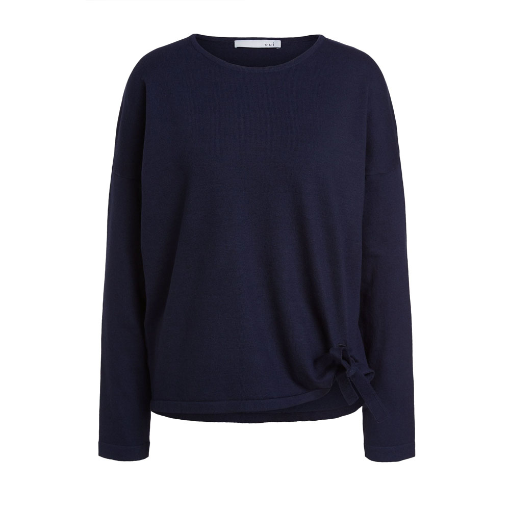 Oui Nightsky Jumper with Tie Detail
