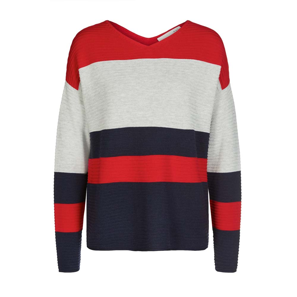 Oui Ribbed Striped Jumper