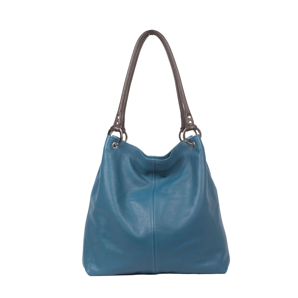 Owen Barry Dudley Teal Leather Bag