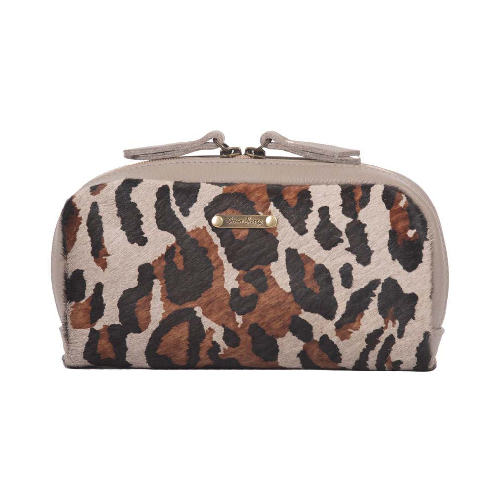 Owen Barry Yves Leopard Cosmetics Pouch