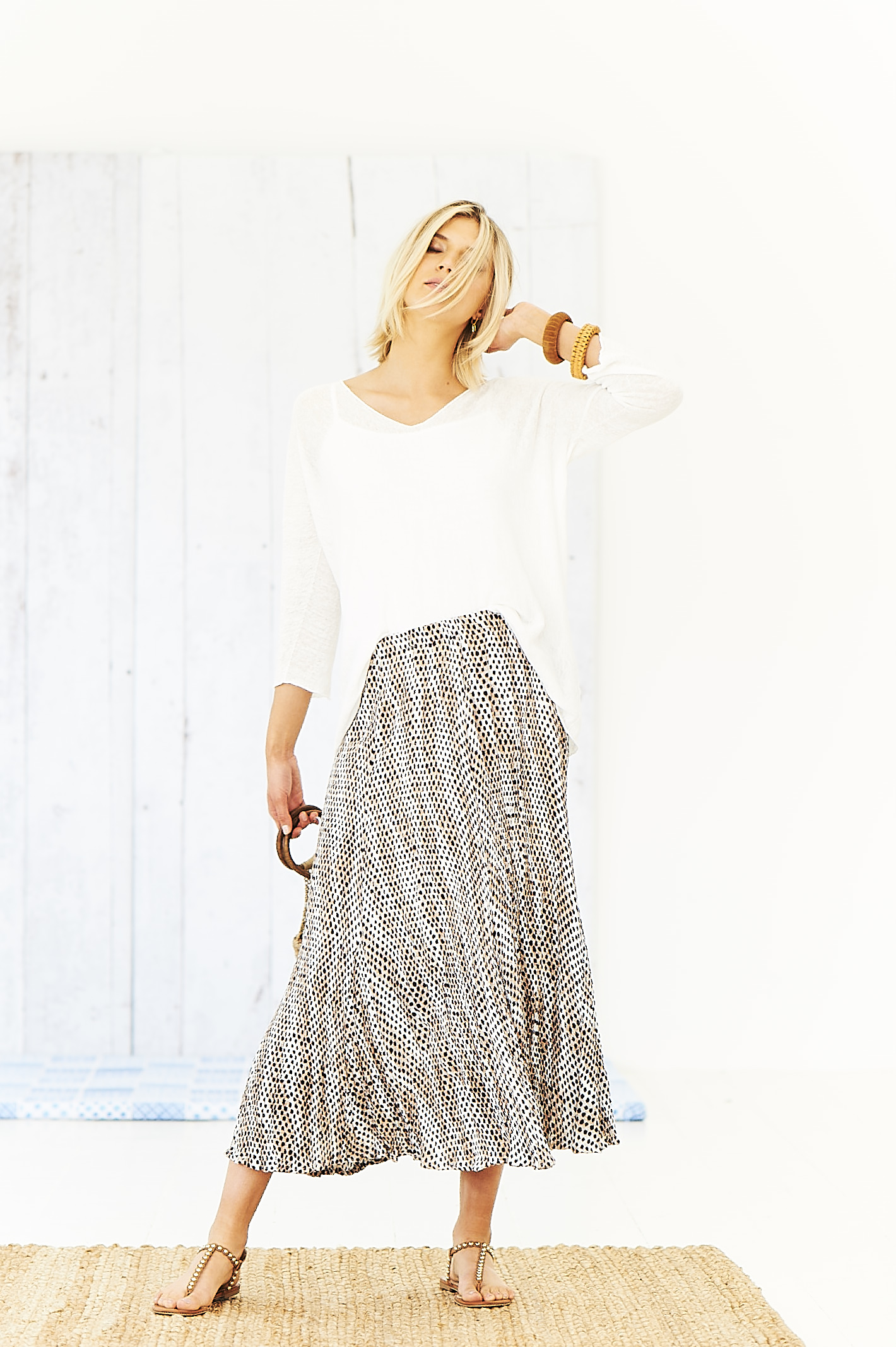 Adini Safari crinkle skirt