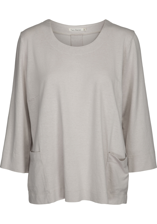 Two danes Haiam t-shirt in limestone