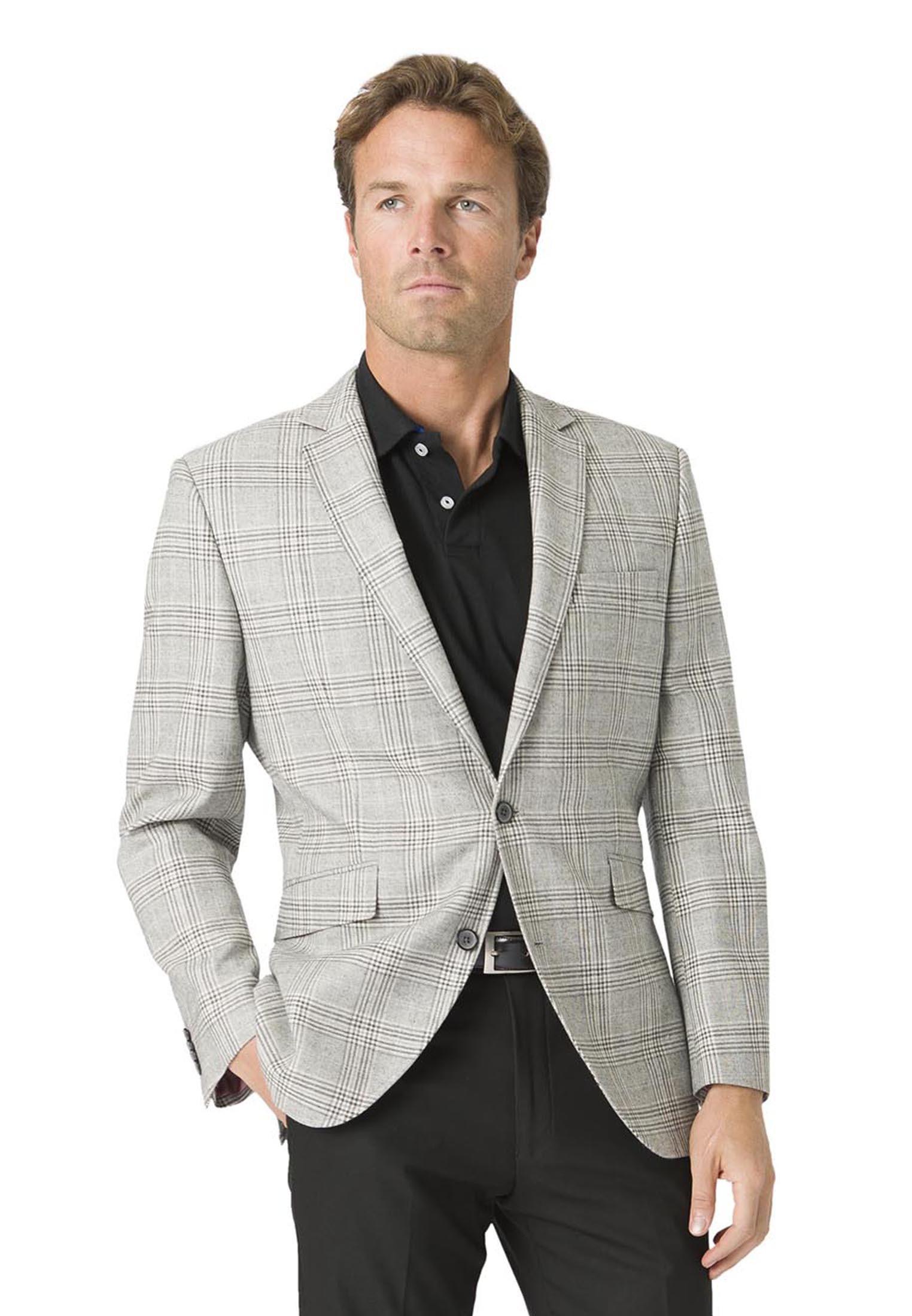 Brook Taverner Alderley Grey Check Tailored Fit Jacket