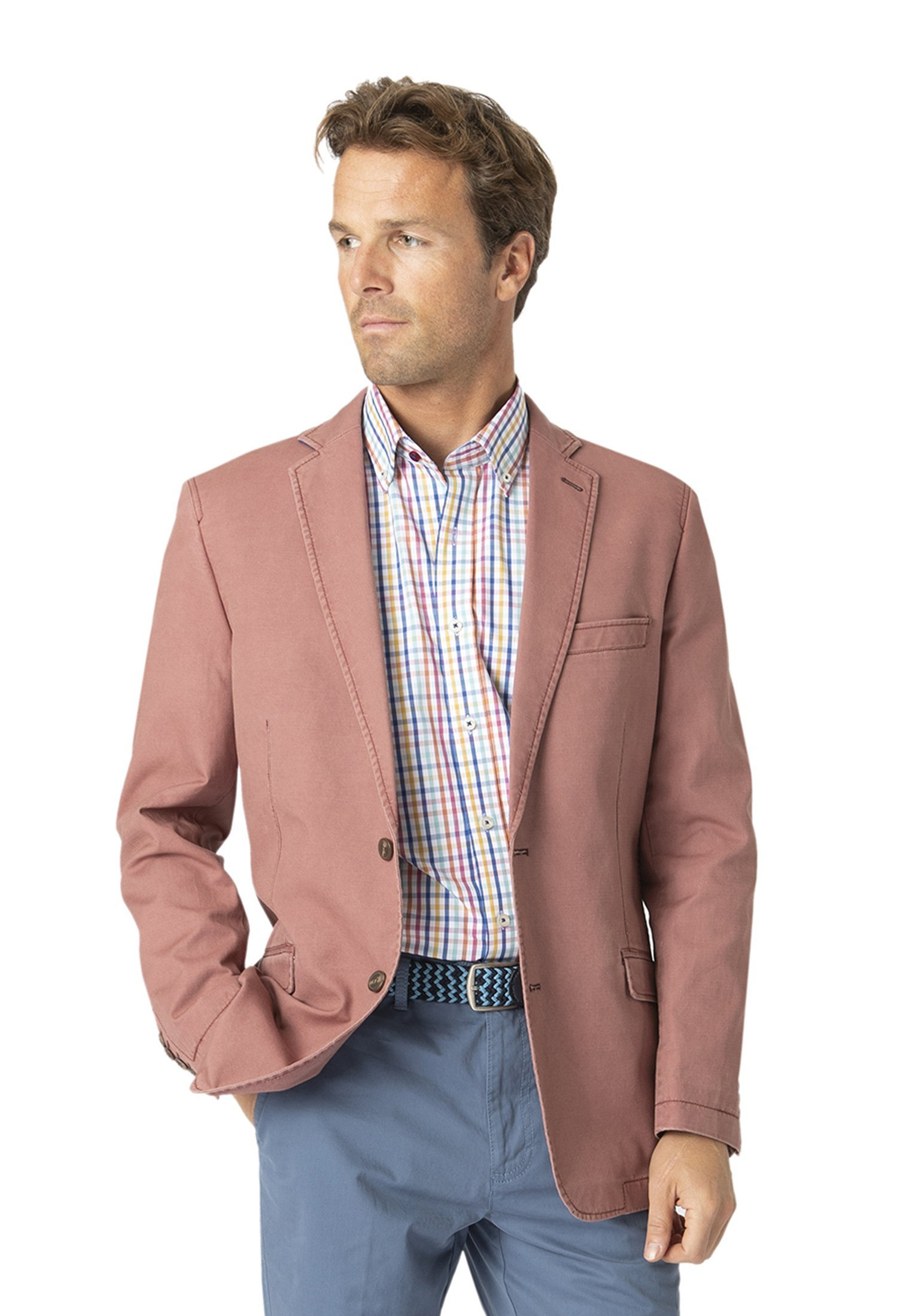 Brook Taverner Tatton Rose Washed Cotton Linen Jacket