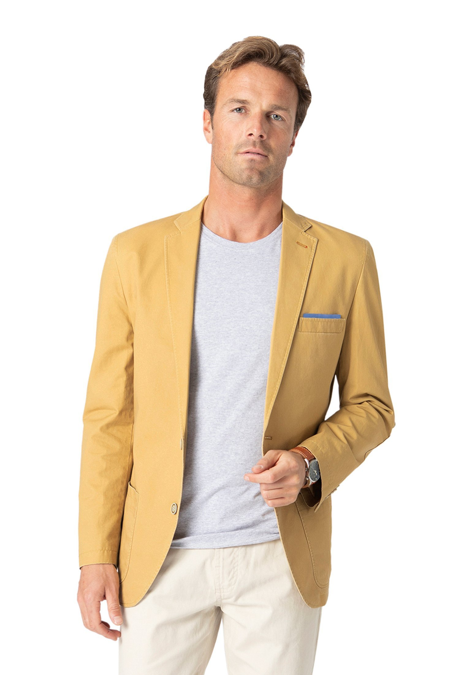 Brook Taverner Chirk Corn Casual Semi-Structured Cotton Jacket