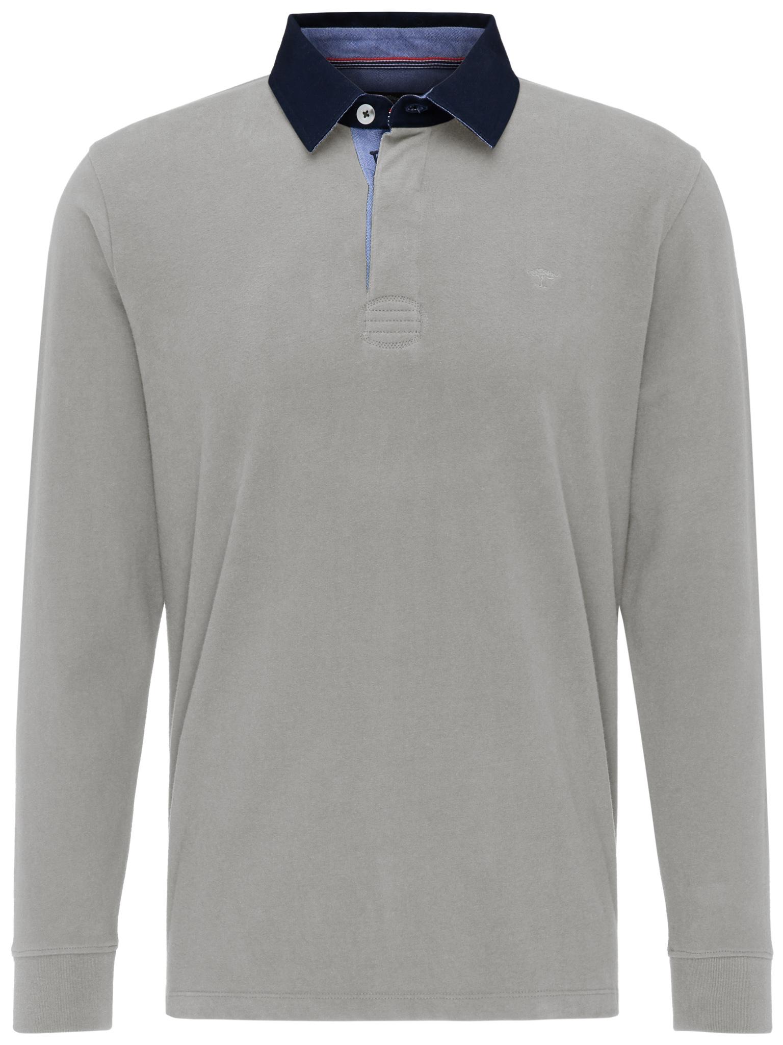 Fynch Hatton cotton half zip knit in silver