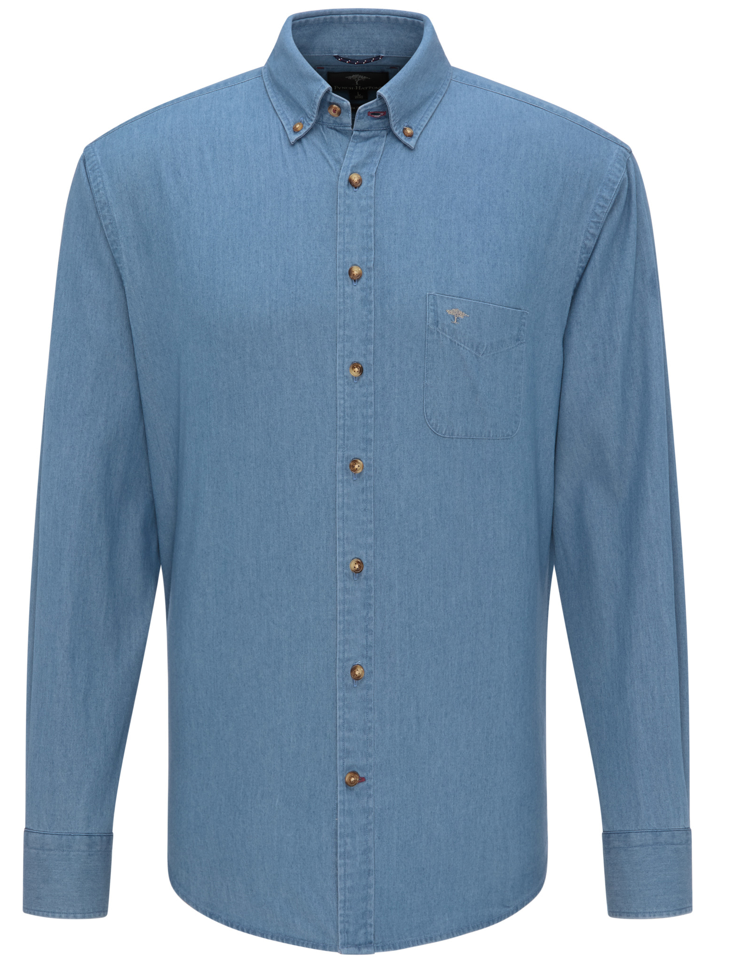 Fynch Hatton denim shirt in light blue