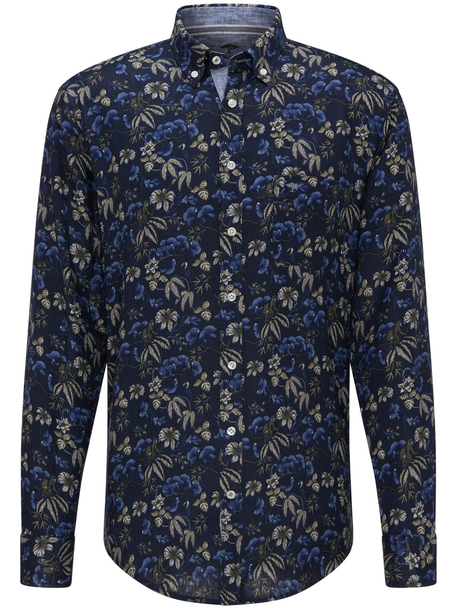 Fynch Hatton linen flower print shirt