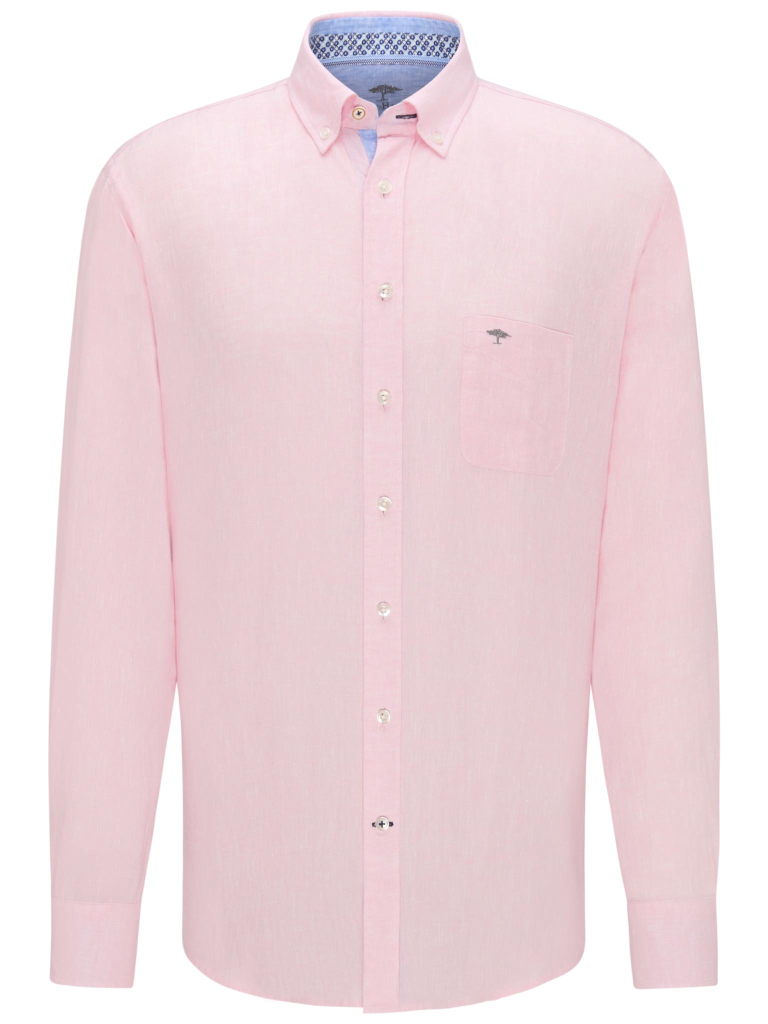 Fynch Hatton light pink linen shirt