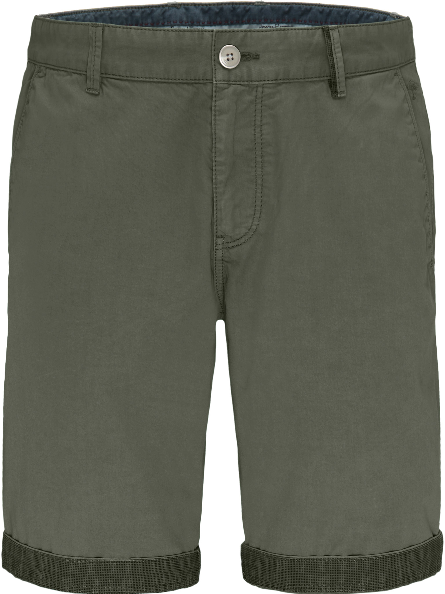 Fynch Hatton semi-taylored smart shorts in olive
