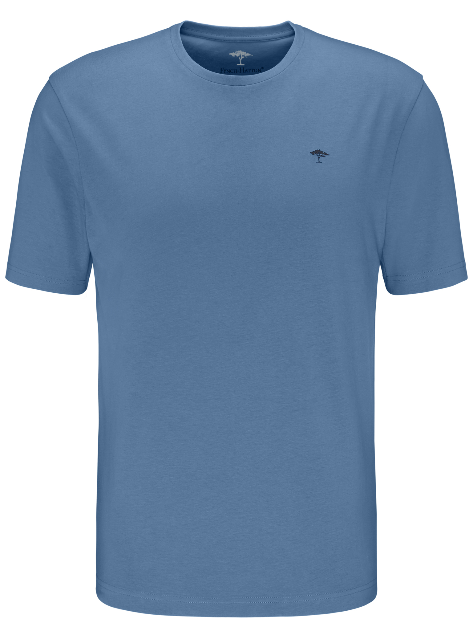 Fynch Hatton cotton tee shirt in blue