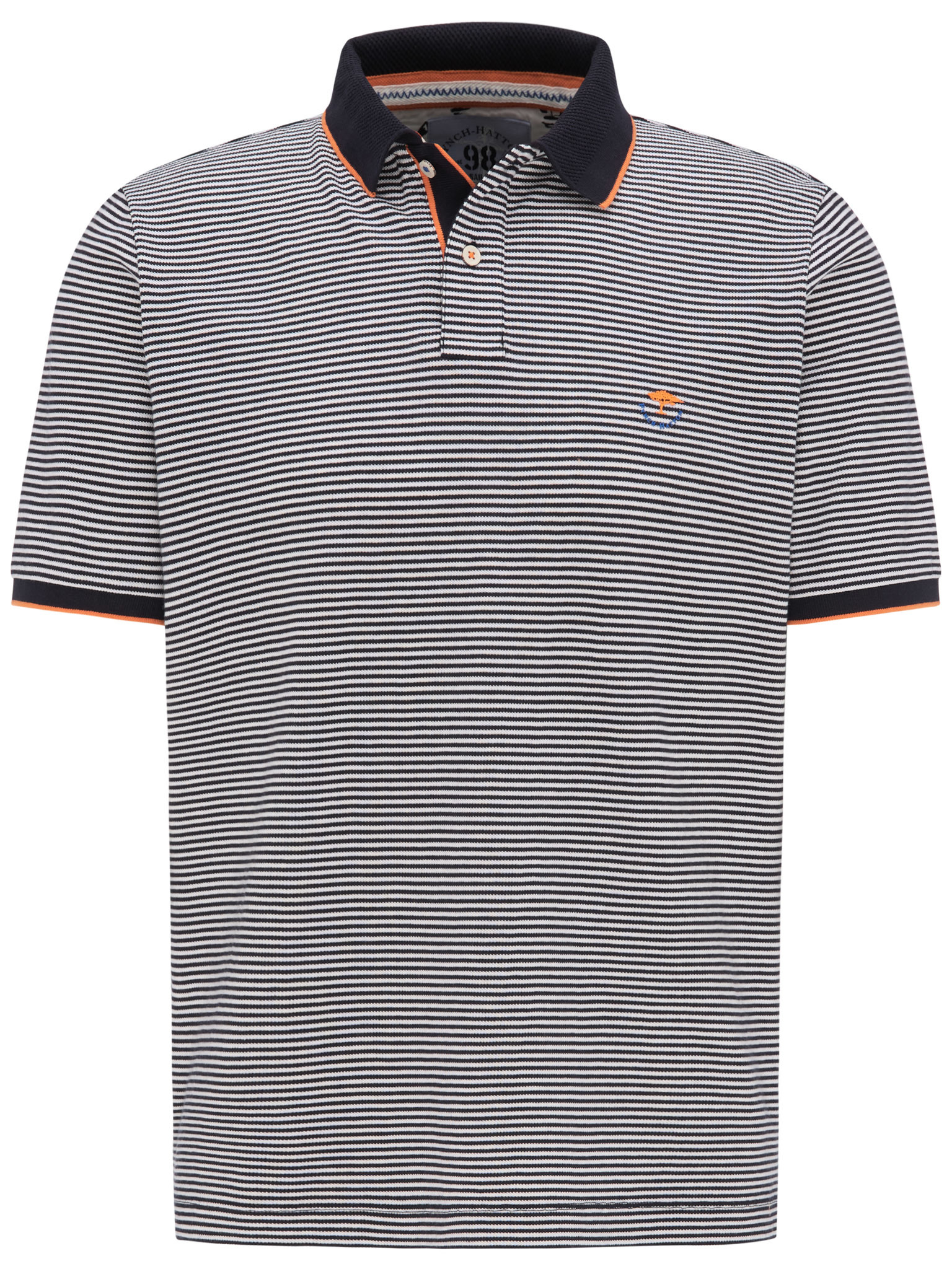 Fynch Hatton fine stripe polo shirt